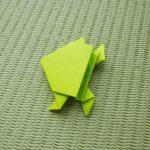 子供ウケ間違いなし!飛ばして遊べる折り紙のカエル!